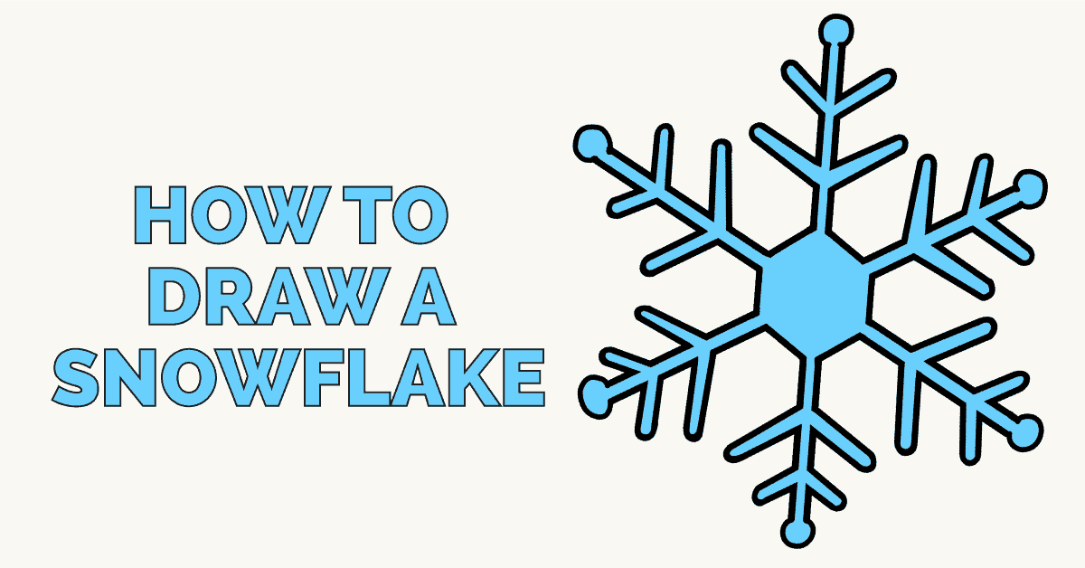 1200x628 How To Draw A Snowflake