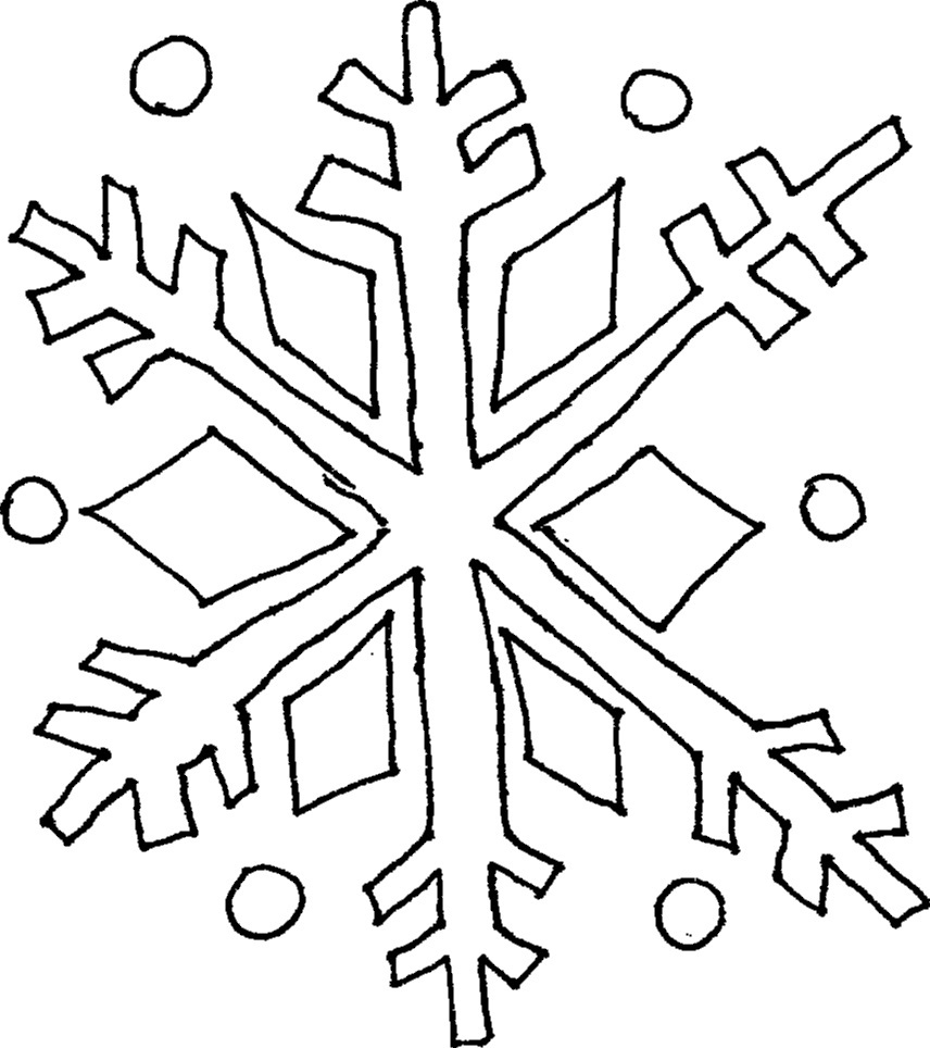 856x964 Drawing Of A Snowflake