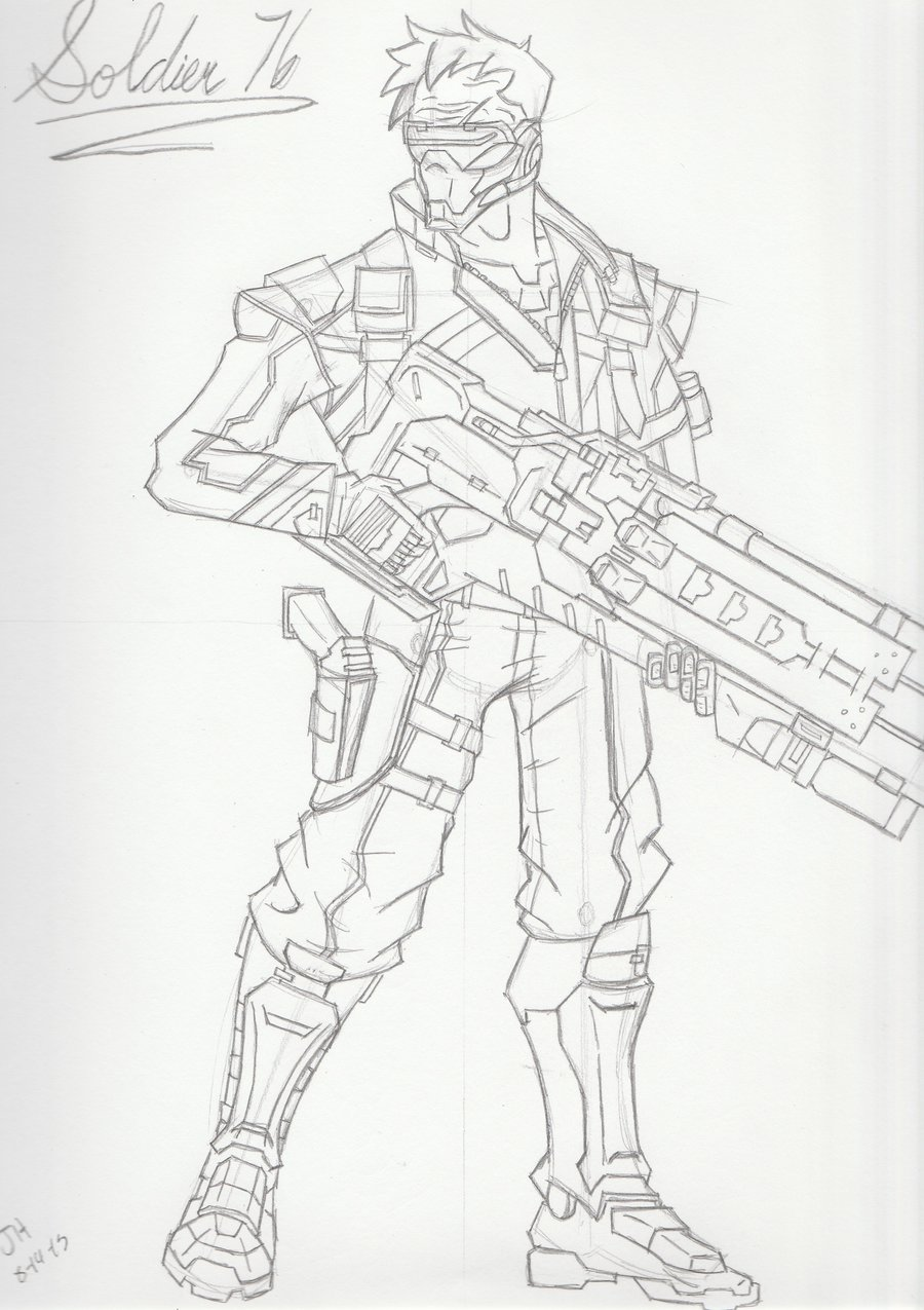 900x1275 Soldier 76 Sketch By Jphollingsworth