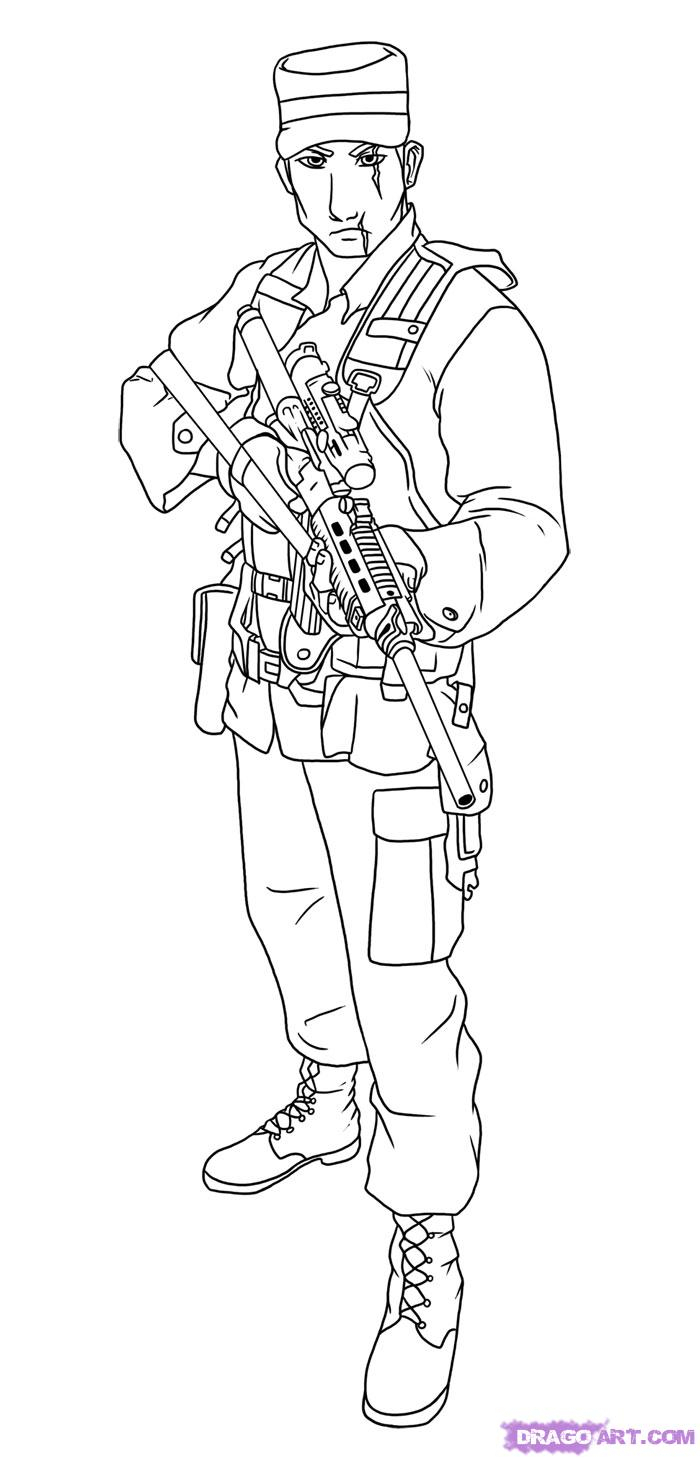 700x1459 Soldier Drawing For Kids How To Draw A Soldier, Step By Step