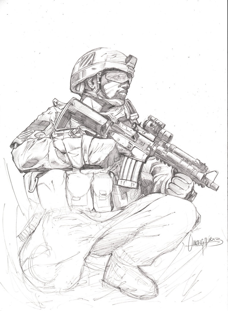 767x1042 Soldier Drawing Wip By Frazer9497