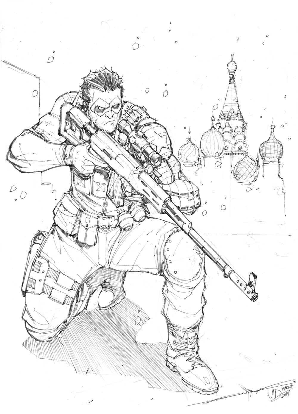 1000x1391 The Winter Soldier By Max On @
