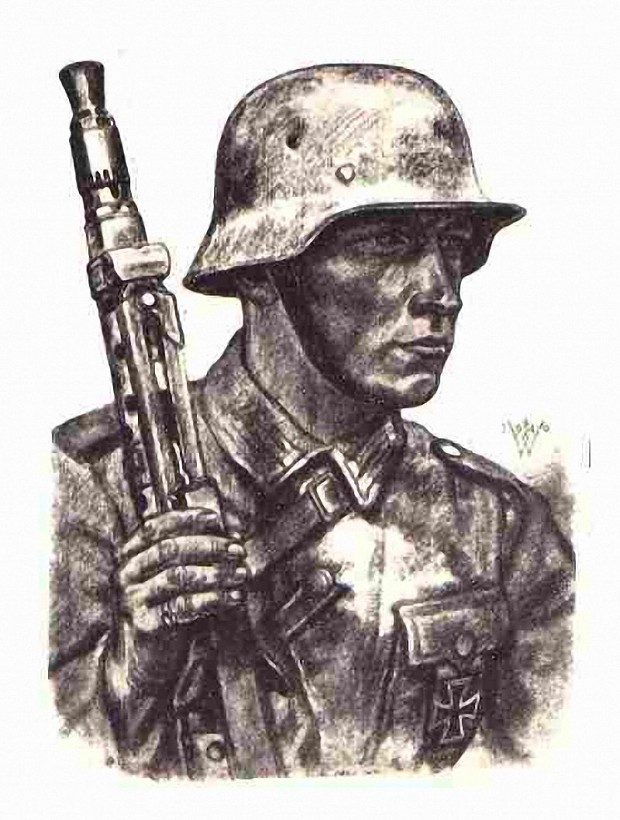 620x820 A German Soldier Drawing Image