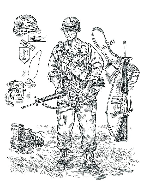 600x771 Coloring Pages Of Army Soldiers Coloring Pages Soldier Drawing