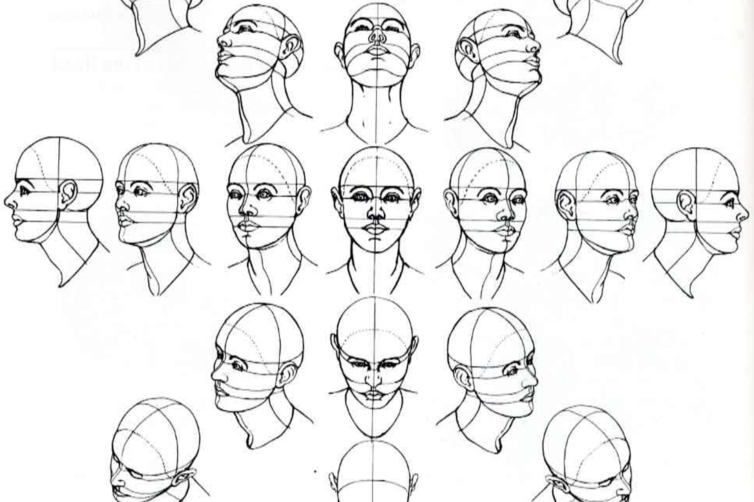 3072x2048 Drawing Face Looking Up Drawing Face Looking Down How To Draw