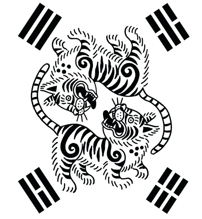 692x750 South Korea Coloring Pages Tigers More Coloring Pages South South