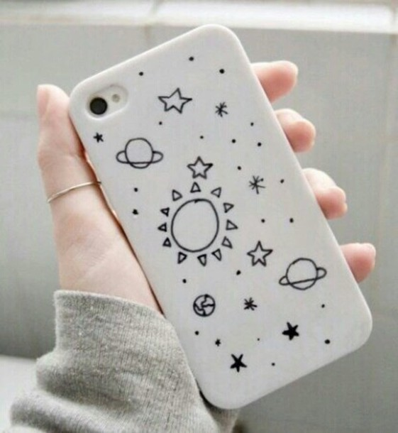 561x610 Phone Cover, Phone, White, Constellation, Black, Drawing, Planets