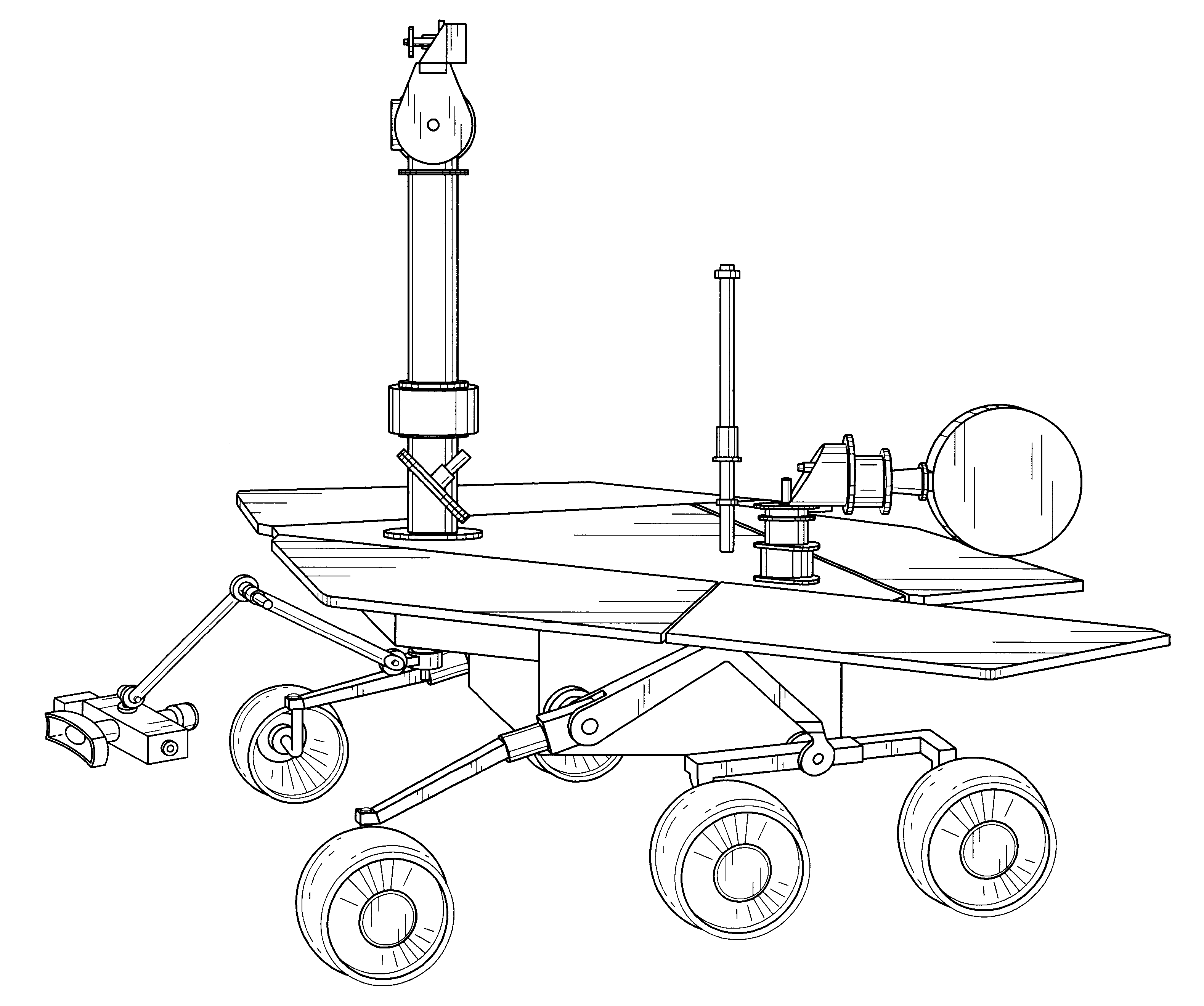3158x2639 Images Of Simple Drawing Mars Rover Curiosity