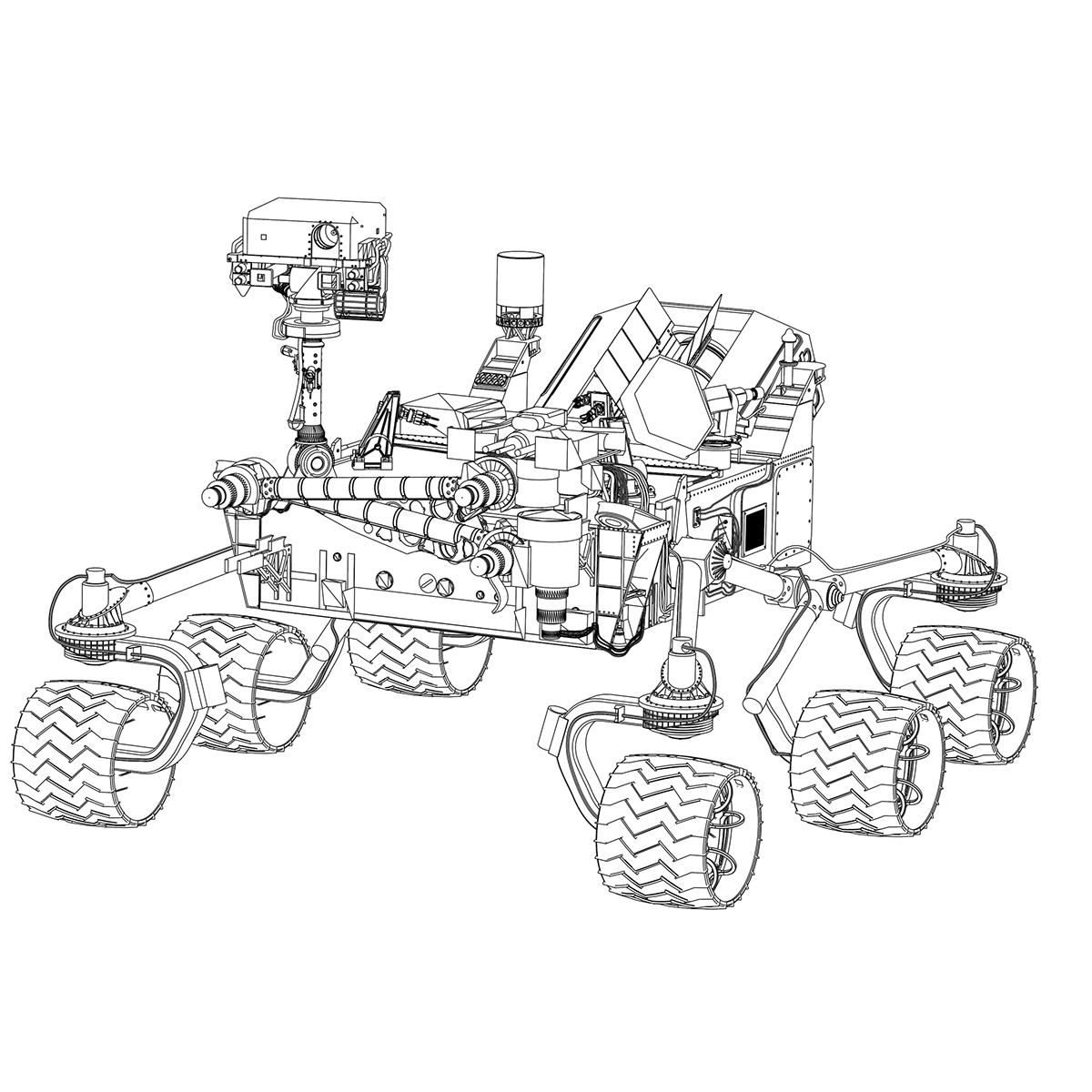 1200x1200 Mars Science Laboratory Rover On Behance