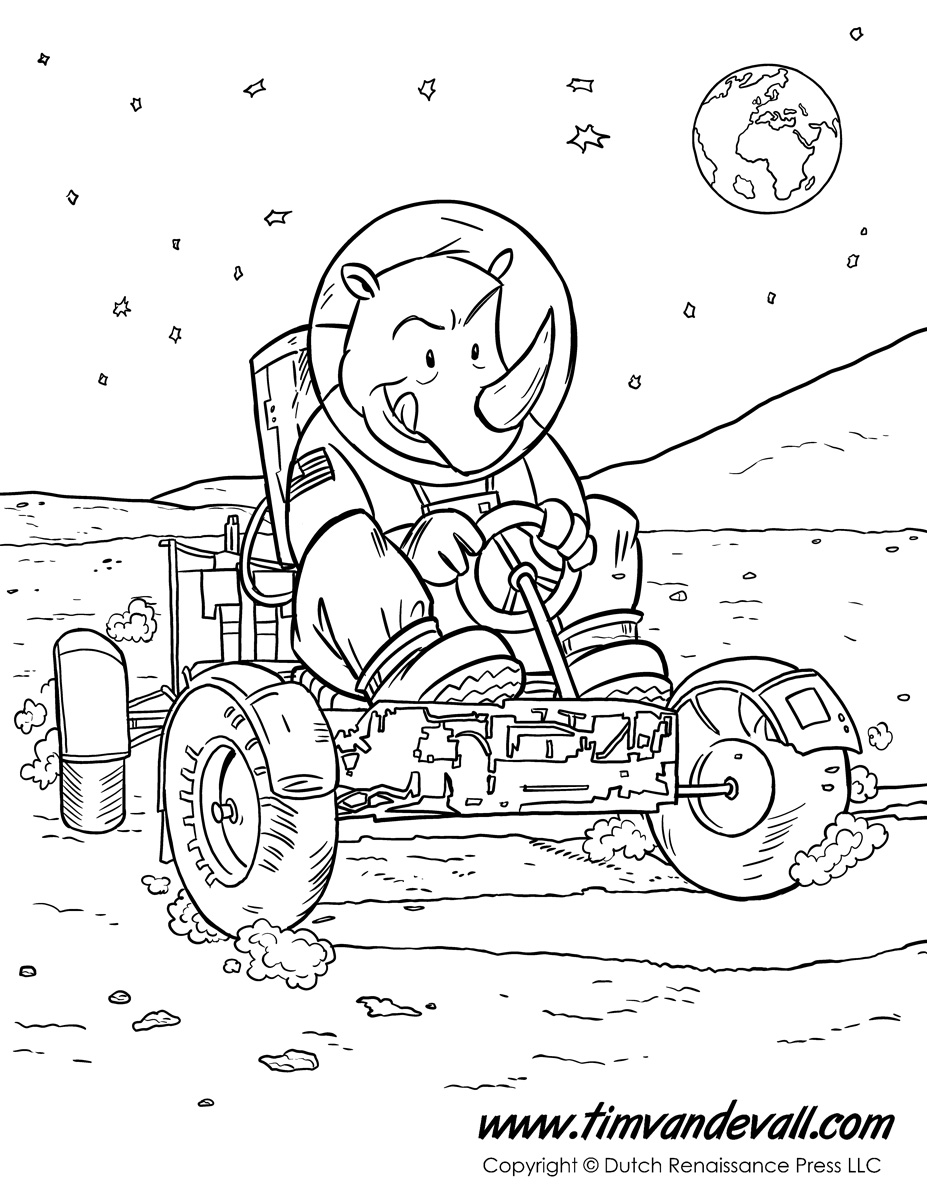 927x1200 Moon Car Coloring Page With 6