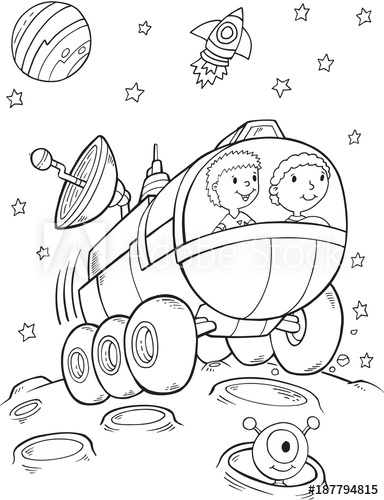 Space Rover Drawing At Getdrawings Com
