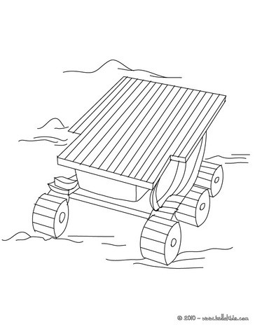 364x470 Space Rover Coloring Pages