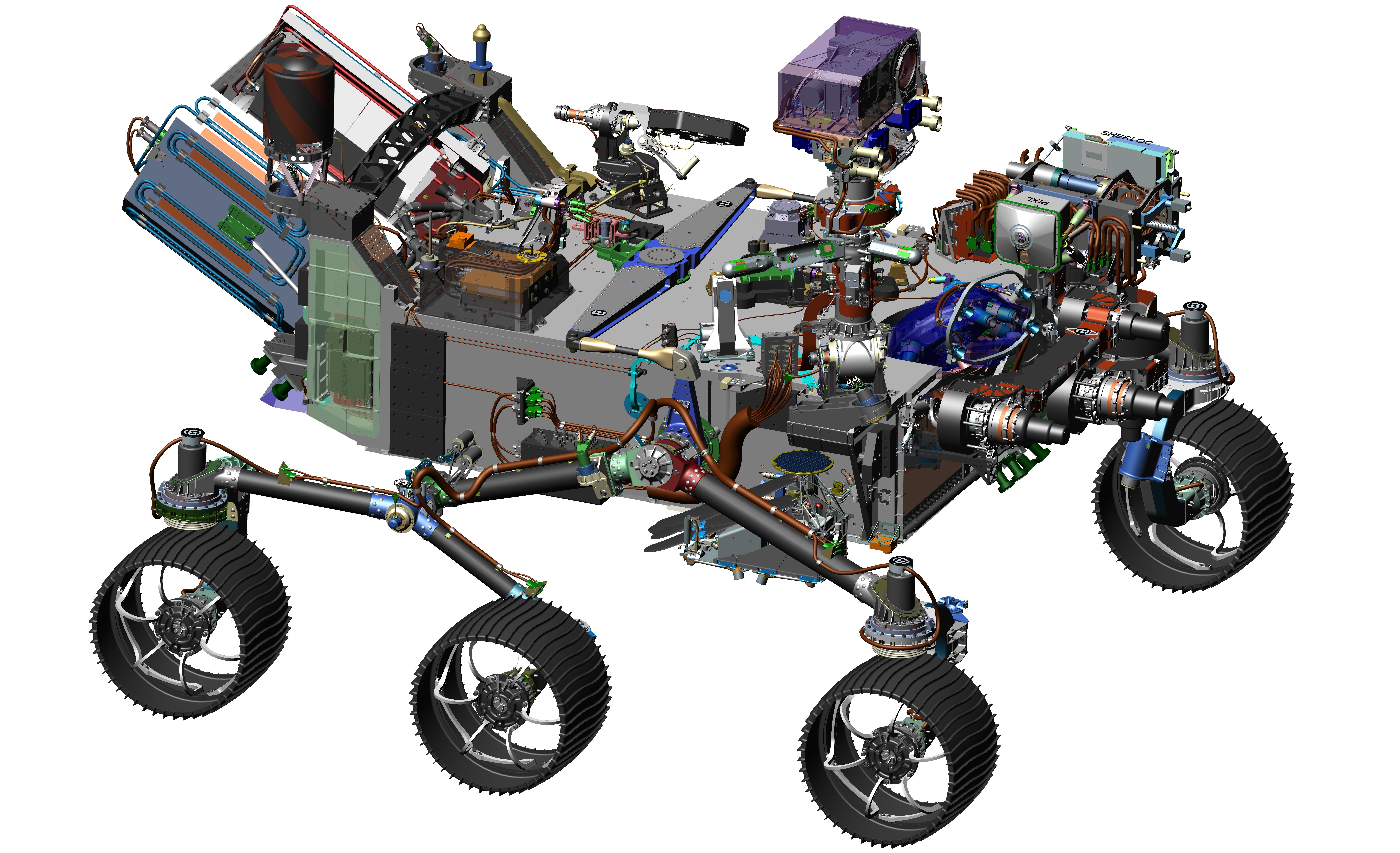 9847x6000 Space Images Computer Design Drawing For Nasa's 2020 Mars Rover