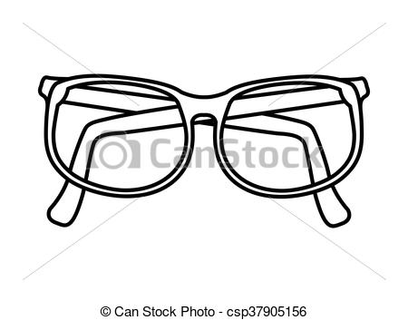 450x353 Glasses Concept. Optical Instrument Icon. Vector Graphic. Optical