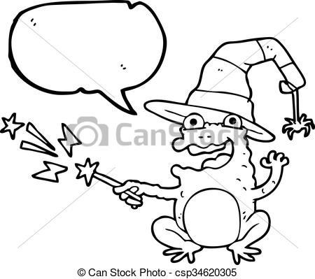 450x399 Freehand Drawn Speech Bubble Cartoon Toad Casting Spell.