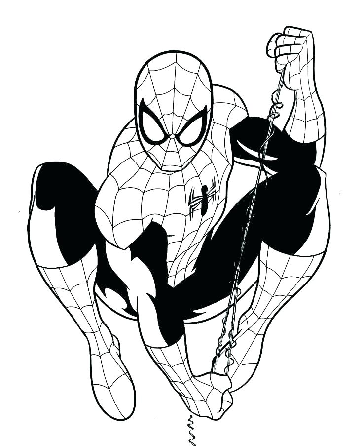 736x903 Coloring Page Spiderman Hanging Upside Down Coloring Page Hanging