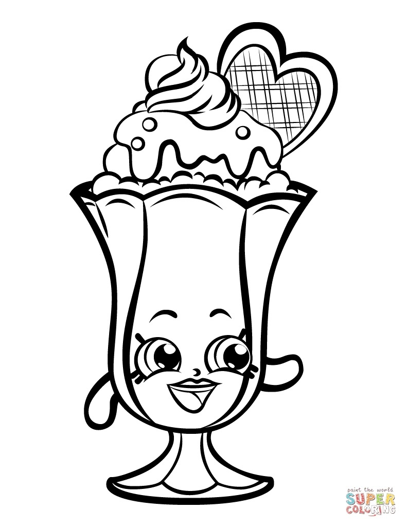 791x1024 Banana Split Coloring Page Luxury Sundae Drawing