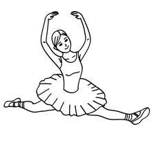 220x220 Ballerina Performing A Sitting Straddle Split Coloring Pages