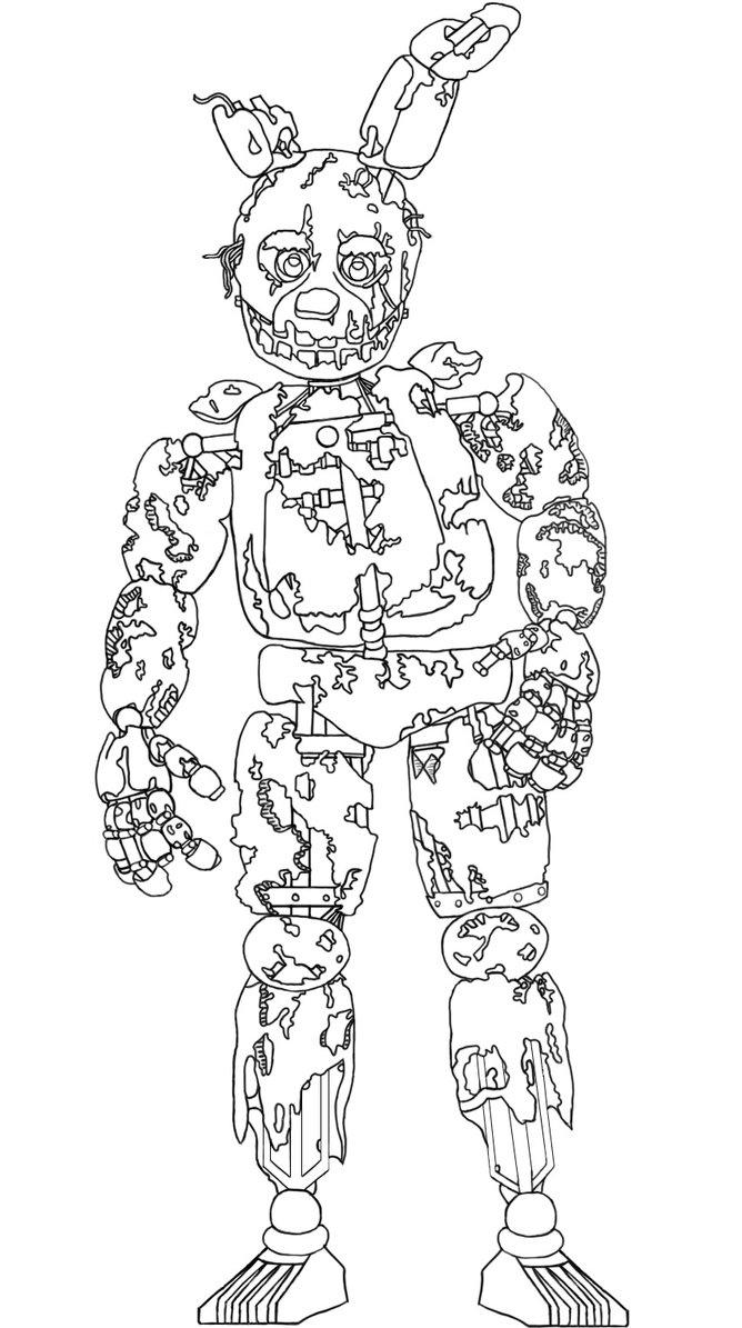 Springtrap Full Body Drawing At Getdrawings Free Download