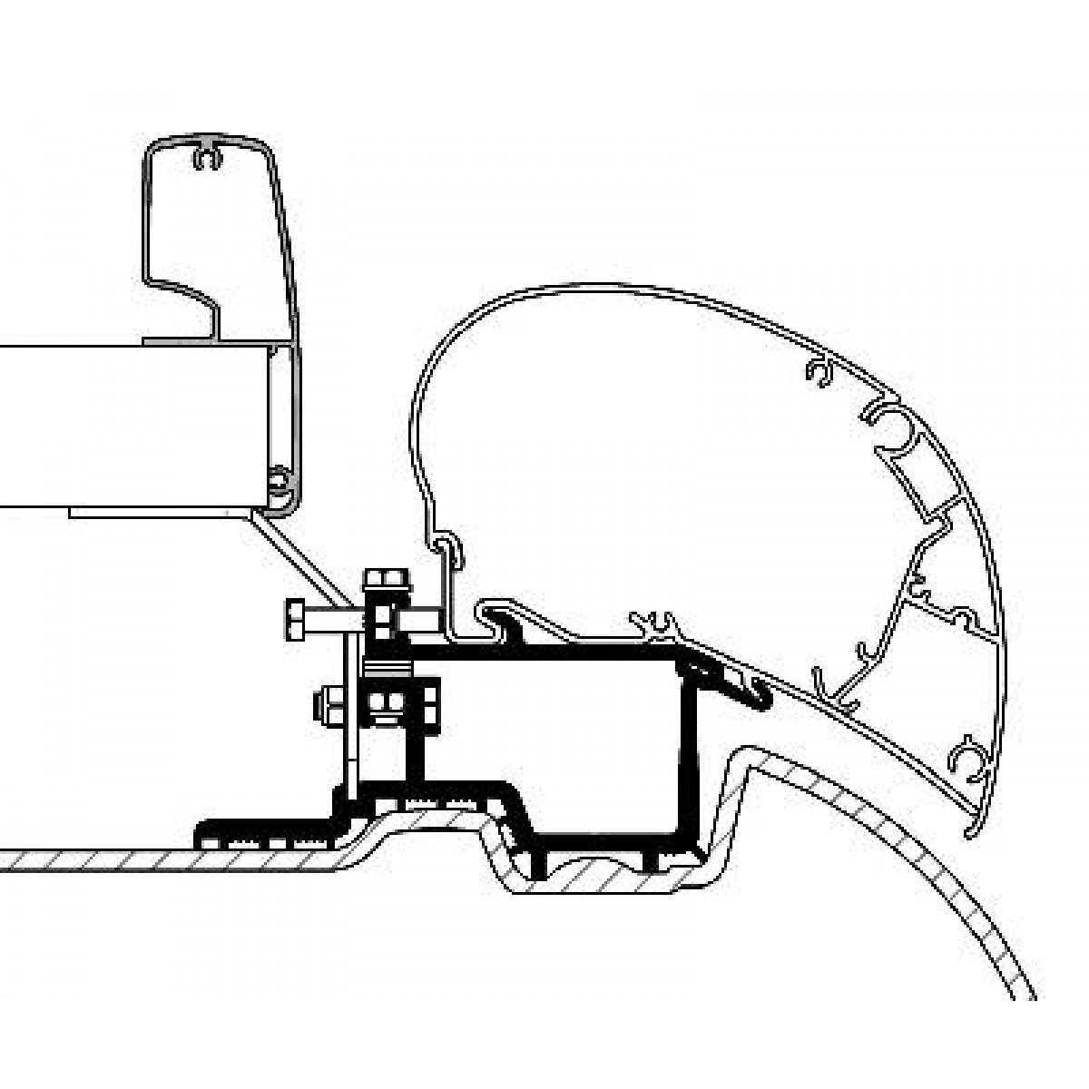 1200x1200 Omnistor Awning Installation Kit Mercedes Sprinter Vw Crafter