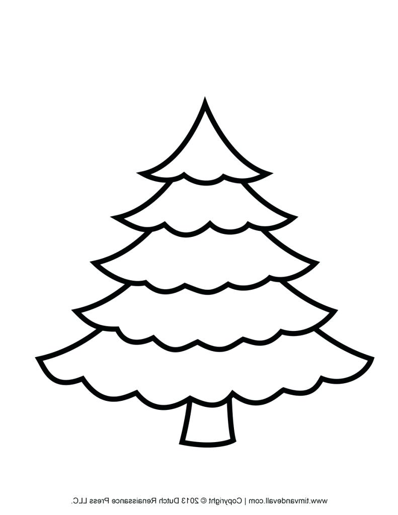 791x1024 Fir Tree Coloring Page Fresh Merry Tree Drawing At Photograph Fir