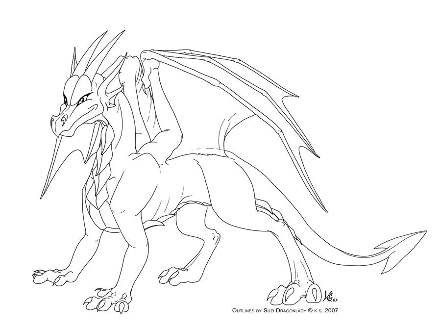 900x667 Free Standard Dragon Outlines By Suzidragonlady