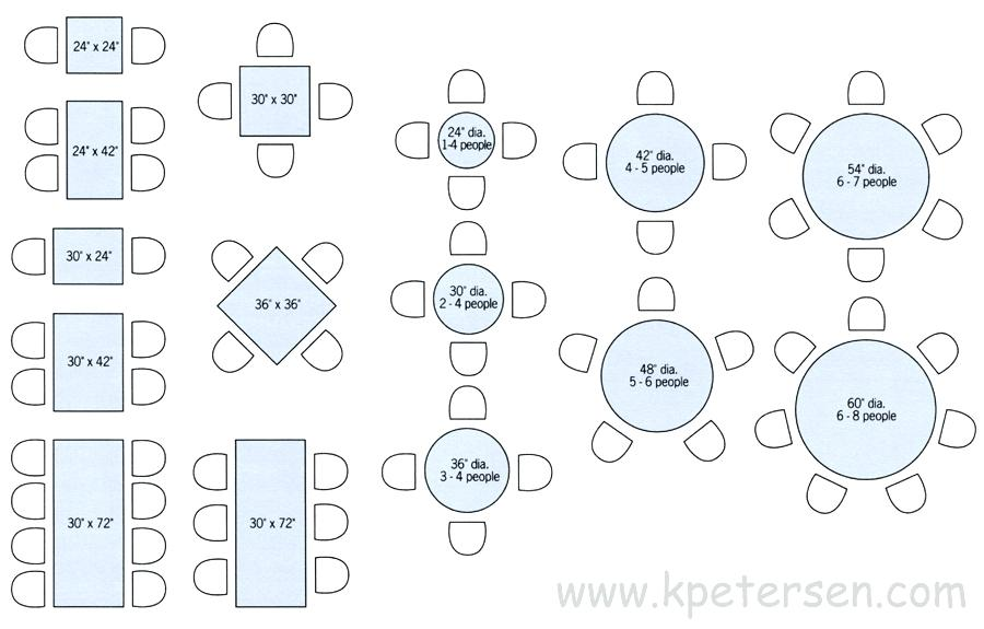 900x575 Standard Table Size Restaurant Table Sizes Drawing Plan View