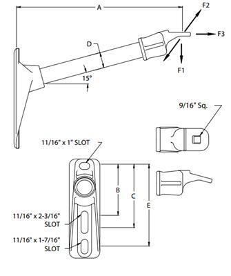 335x400 Fiberglass Single Phasesingle Position Standoff Arrester Bracket