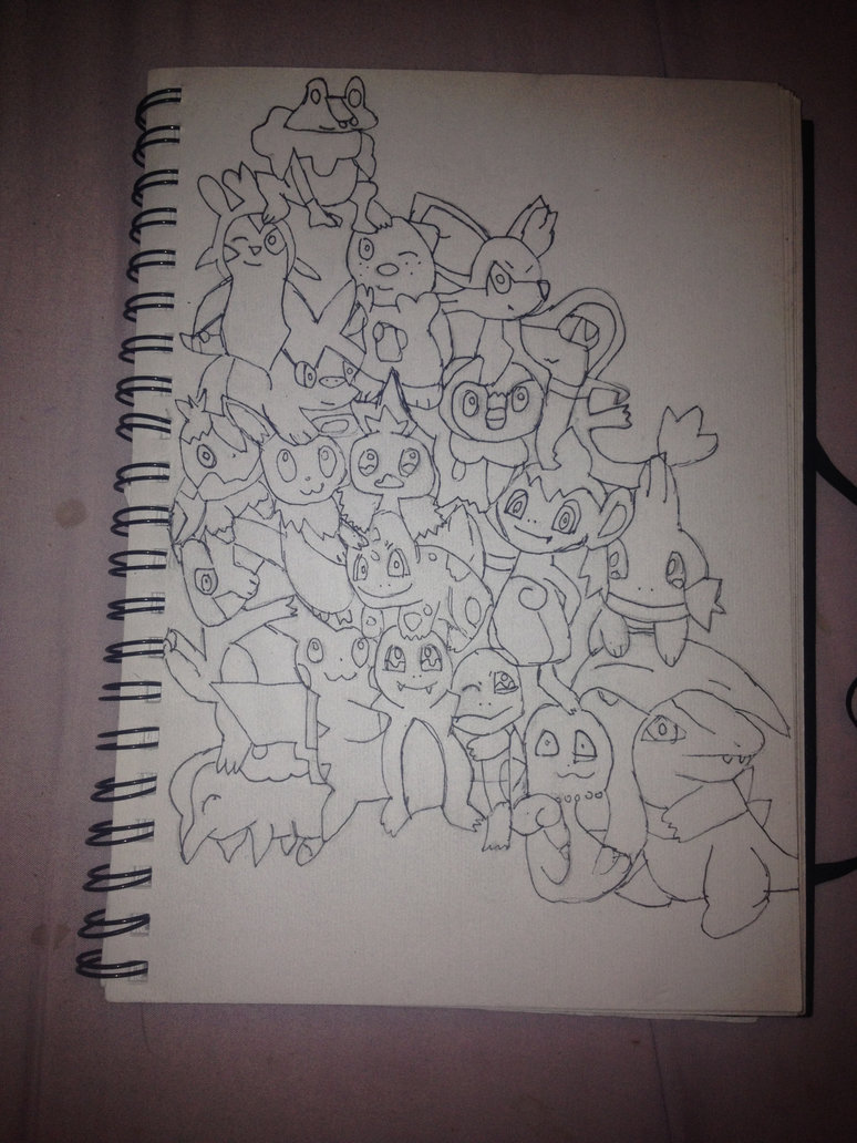 774x1032 Drawing Of All Starter Pokemon By Pika94