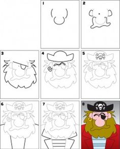 236x292 How To Draw A Pirate