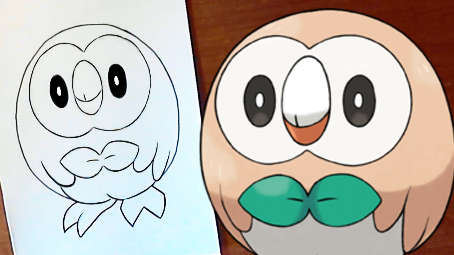 1920x1080 How To Draw Rowlet Starter Pokemon For Pokemon Sunmoon
