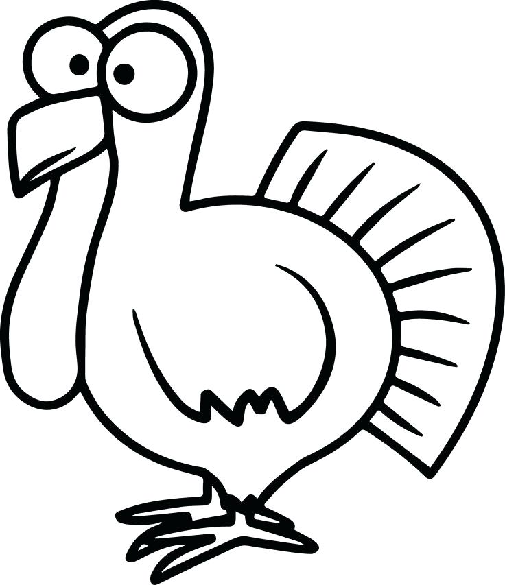 736x853 How To Draw A Turkey As Well As Cooked Turkey Drawing Draw Turkey