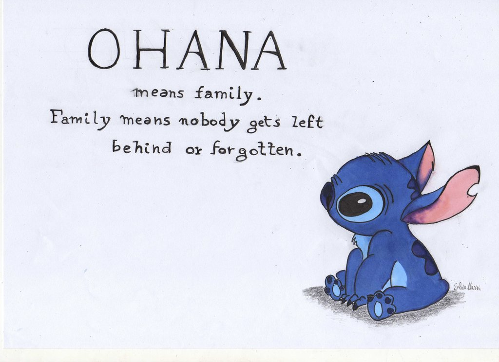 1024x744 Ohana Means Family Uploaded By Dream On We Heart It