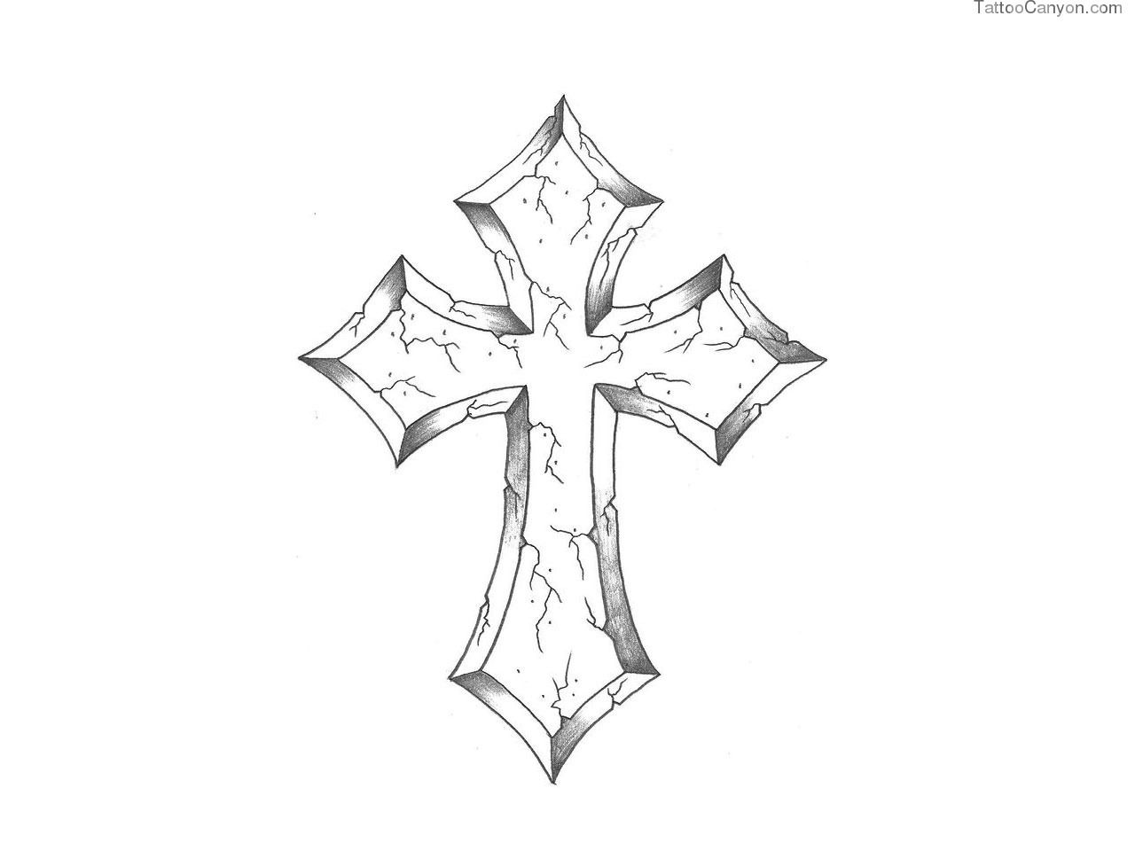 Stone Cross Drawing