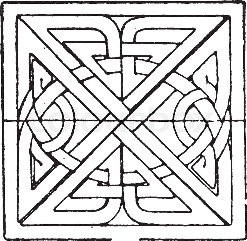 800x780 Scandinavian Square Panel Is A Bas Relief Design Found On A Celtic