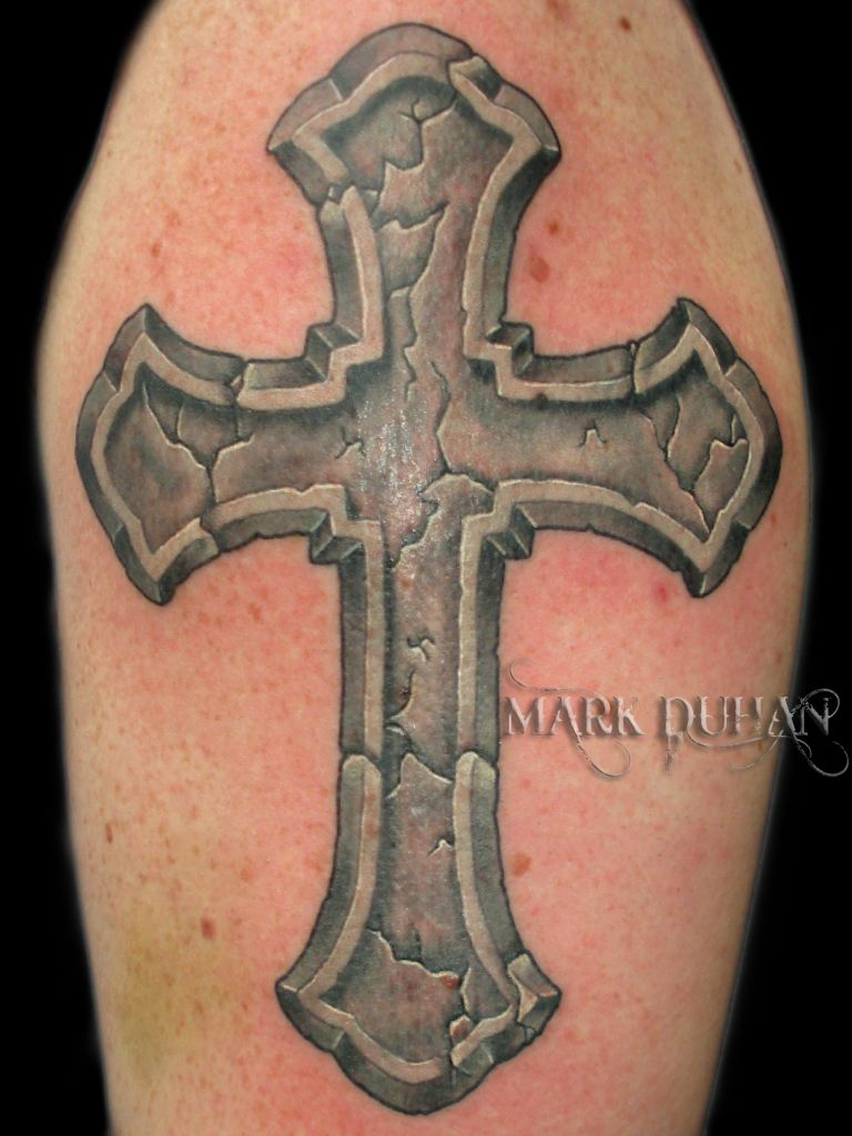 768x1024 Christian Tattoo Stone Cross By Amduhan On Kool
