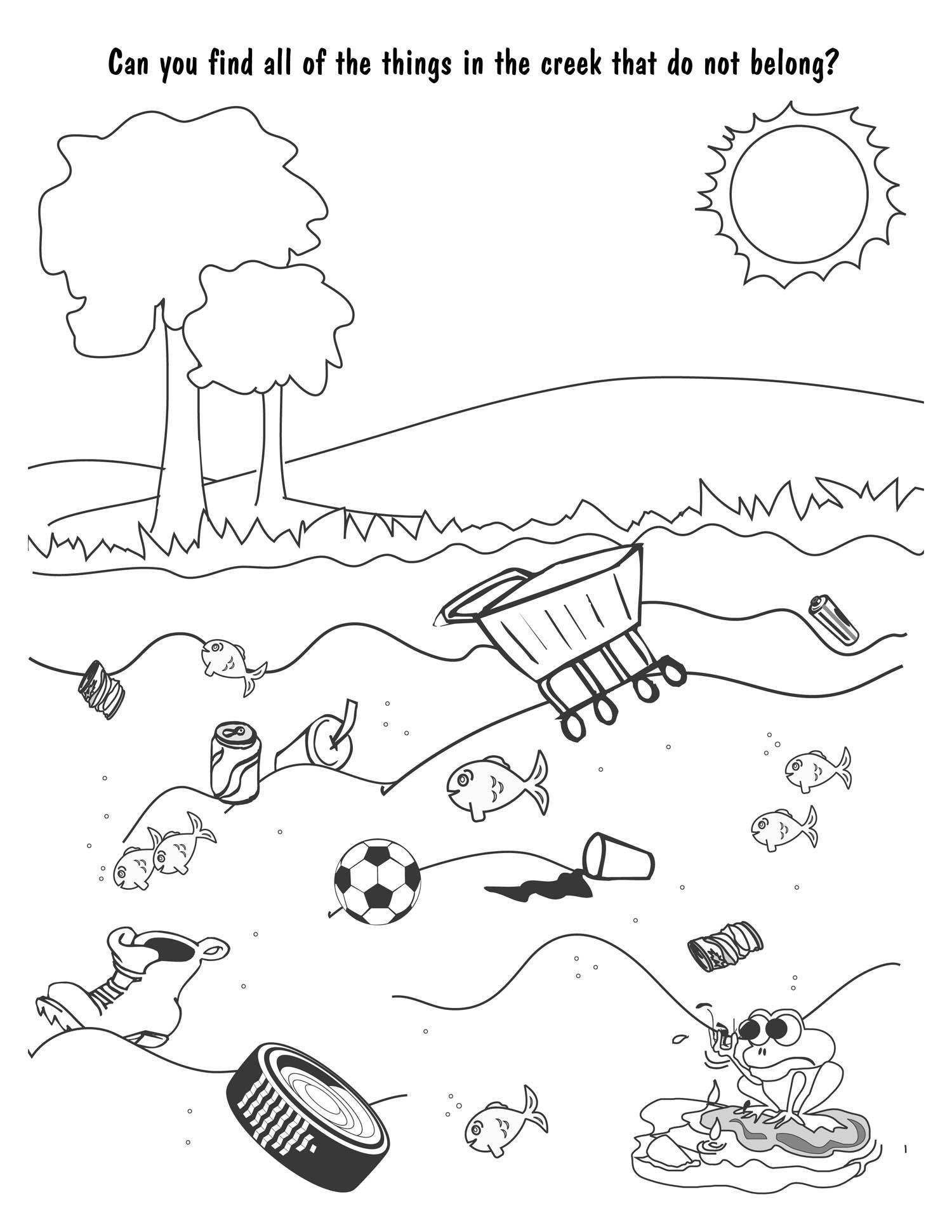 pullution coloring pages - photo#11