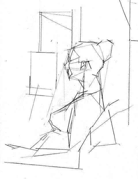 479x621 Figure, Civita Figure Drawing Planar Studies, Straight Lines