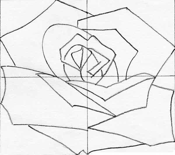 600x531 How To Draw Flowers