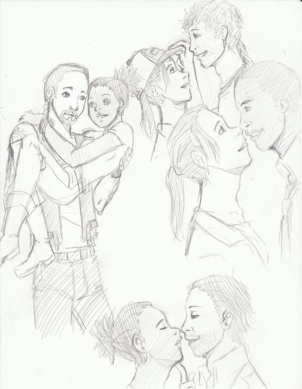 1021x1315 L4d Straight Couple Doodles By Soraka Chan