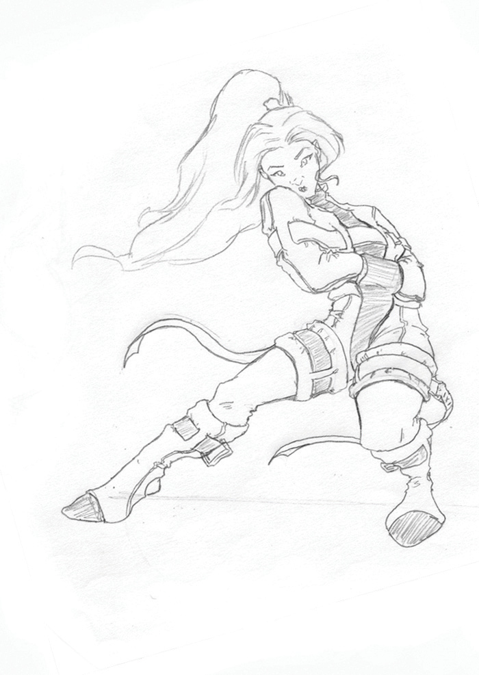 700x986 Straight Jacket Gurl Sketch By Gzapata
