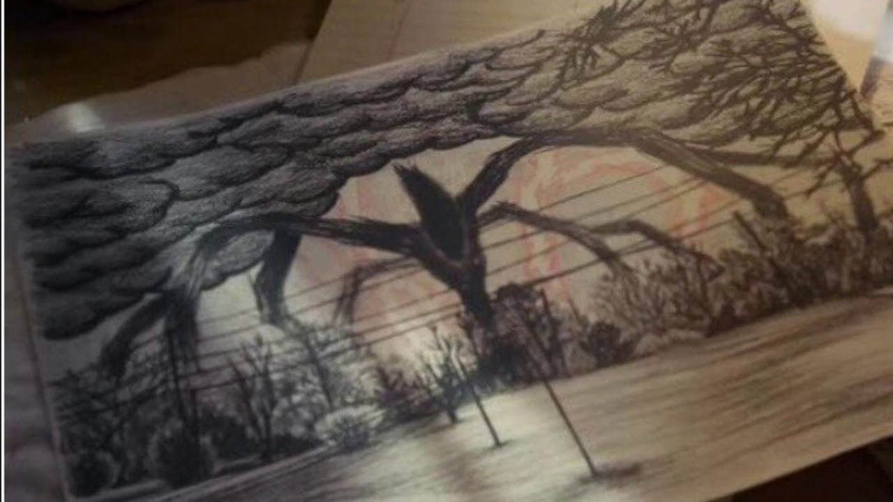 1280x720 Recreation Of The Shadow Monster Drawing From Stranger Things