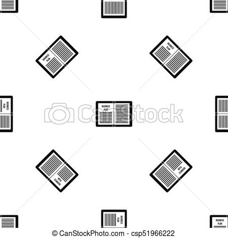 450x470 Business Strategy Plan Pattern Seamless Black. Business Vector