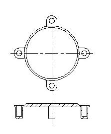 223x270 Flange Stud Hole Inserts, Stud Hole Protector
