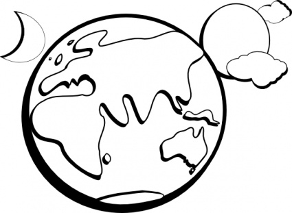 425x311 Moon Black And White Sun And Moon Clipart Black White