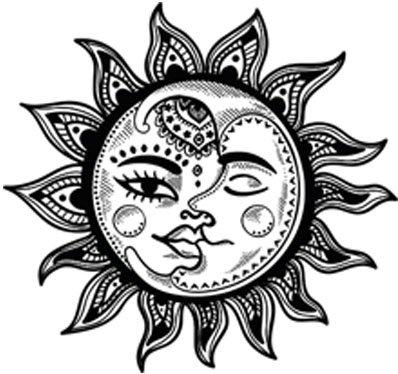 398x374 Pretty Black And White Boho Gypsy Tribal Cartoon Icon