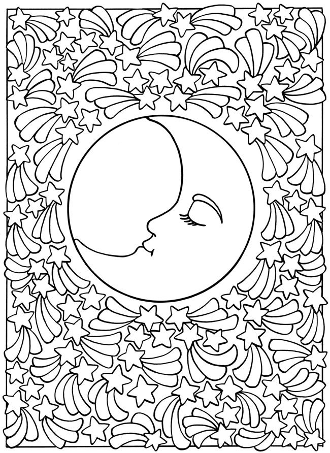 650x892 Sun And Moon Coloring Pages For Adults Sun And Moon Coloring Pages