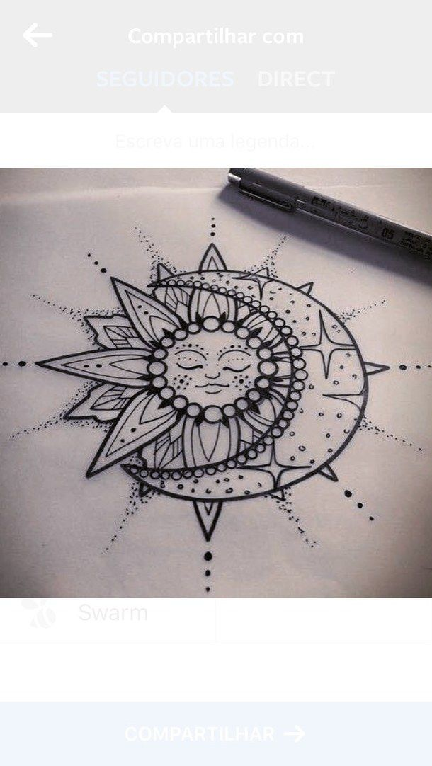 610x1082 Collection Of Sun And Moon Mandala Drawing High Quality