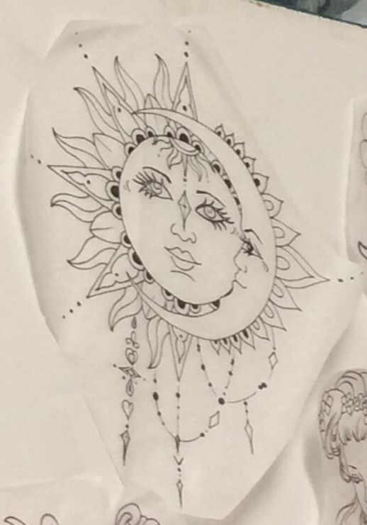 518x741 Sun And Moon Bohemian Tattoo Cover For The One On My Shoulder