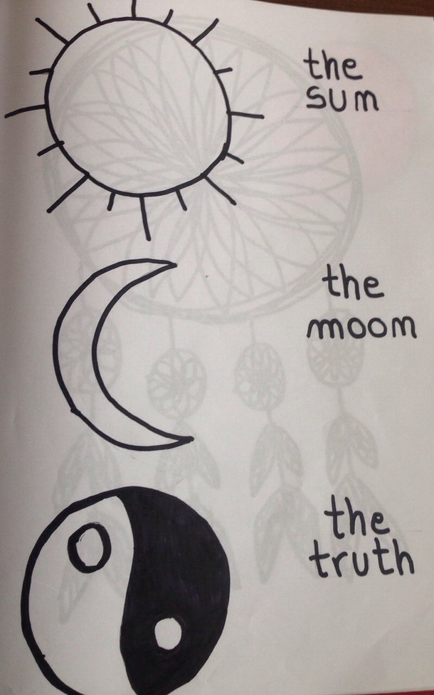 610x976 Art, Black, Doing, Doodle, Drawing, Love, Moon, Sun, This, Truth